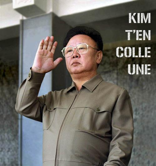 Kim rigole pas trop aujourd'hui
